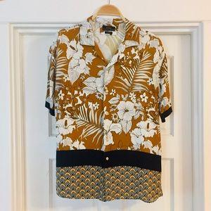 ▪️ZARA MAN▪️Relaxed Fit Tropical Print Shirt